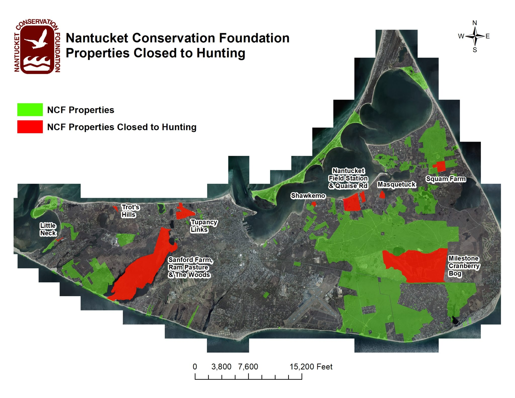 NCF Properties Closed To Hunting